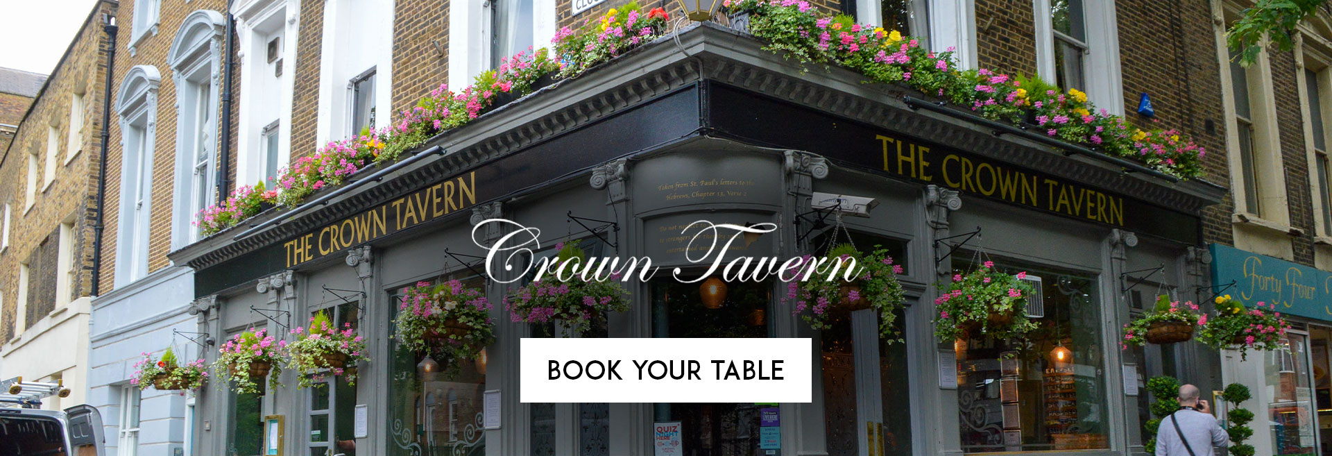 Book Your Table The Crown Tavern