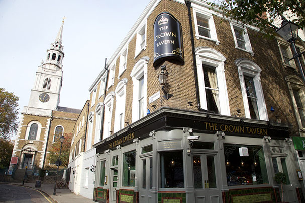 The Crown Tavern in Clerkenwell Green